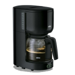 Braun koffiezetapparaat, KF560, zwenkfilter, aquafilter, 10 kops, 1000Watt