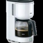 Braun koffiezetapparaat. KF3120WH, zwenkfilter, aquafilter, 10 kops, 1000Watt