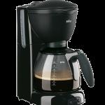 Braun koffiezetapparaat, KF560, zwenkfilter, 10 kops, soft-grip, aquafilter, 1200Watt