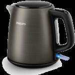 Philips waterkoker, HD9349, afneembaar, metaal(titanium, vlakke bodem, 1L, 2400Watt