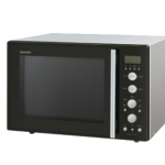 Sharp magnetron, R939BK, combi, (magnetron/grill/hetelucht) 40L, RVS binnenzijde, autom. kookprogramma's, 900/1300/1450Watt