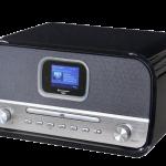 Soundmaster DAB+radio met CD-speler, RETRO, NMCDAB990BLACK, stereo, kleurendisplay, bluetooth, USB, wekkerfunctie en afstandsbediening